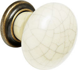 brass ceramic bone crackle cupboard cabinet door knobs pull handles